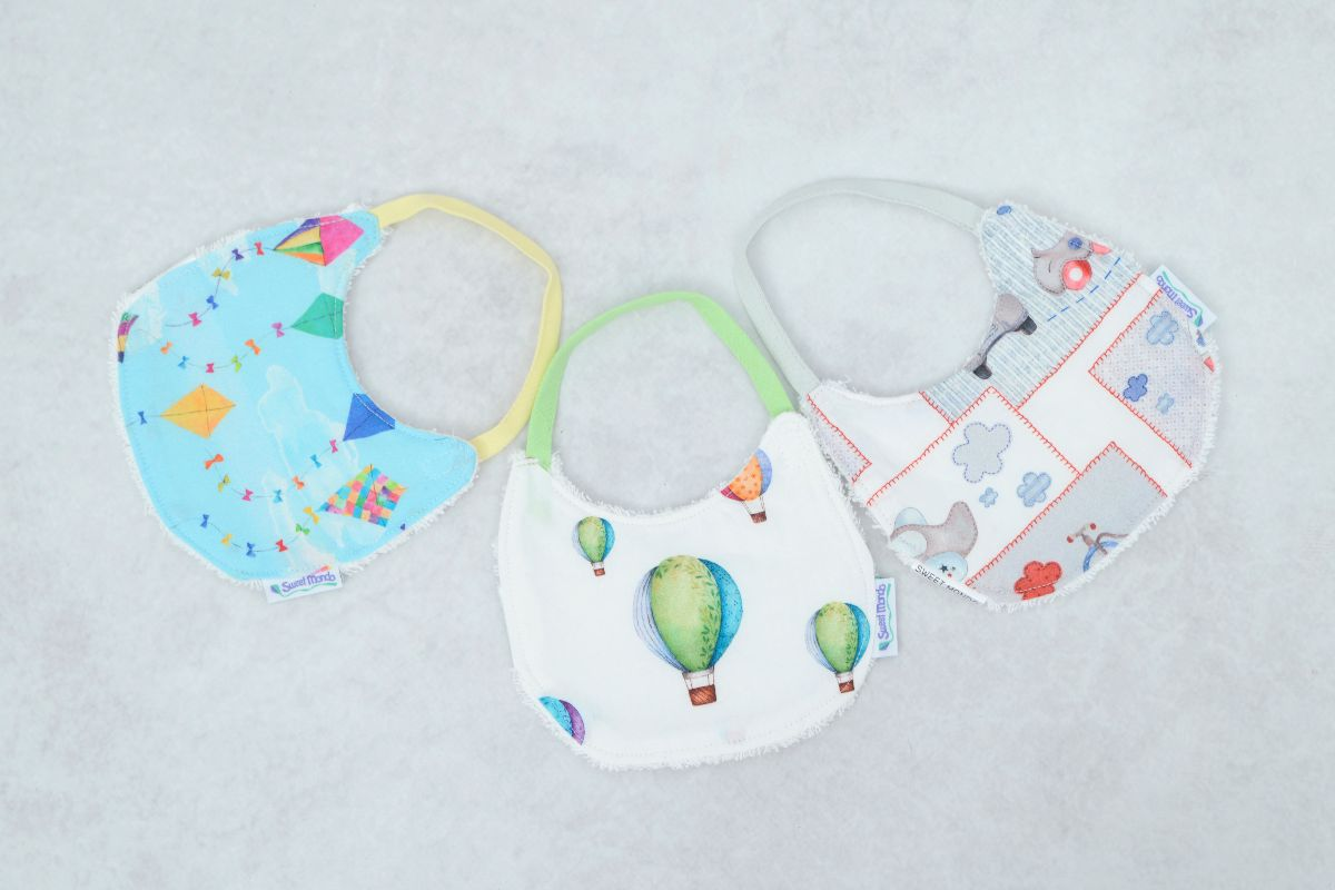 Pack 3 baberos recién nacido home